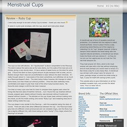 comparisons « Menstrual Cups