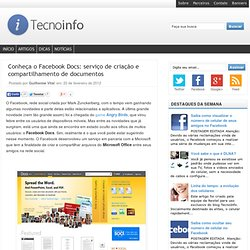 Conheça o Facebook Docs: serviço de criação e compartilhamento de documentos
