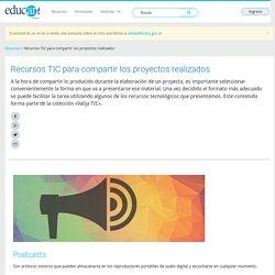 Recursos TIC para compartir los proyectos realizados - Educ.ar