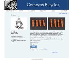 Compass Bicycles: Brakes