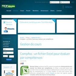 CompAss : un fichier Excel pour évaluer par compétences