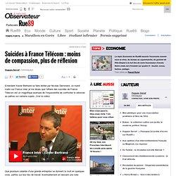 Suicides à France Télécom : moins de compassion, plus de réflexi