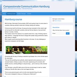 Hamburg course - Compassionate Communication Hamburg