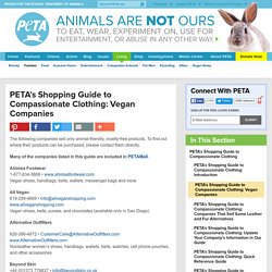 PETA's Shopping Guide to Compassionate Clothing