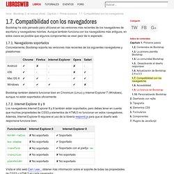 1.7. Compatibilidad con los navegadores (Bootstrap 3, el manual oficial)