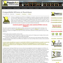 Compatibilité RT2012 et Passivhaus