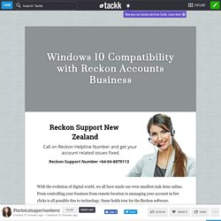 Windows 10 Compatibility with Reckon Accounts Business