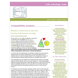 Romantic Compatibility Synastry Analysis in Astrology