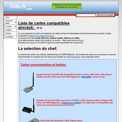 Cartes wifi compatible aircrack Chipset atheros et ralink