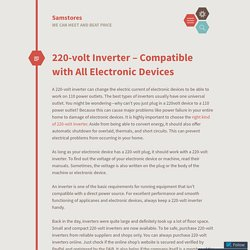 220-volt Inverter – Compatible with All Electronic Devices