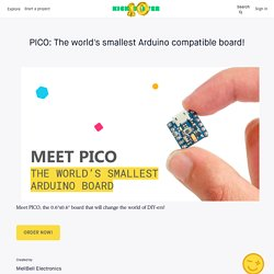 PICO: The world's smallest Arduino compatible board! by MellBell Electronics