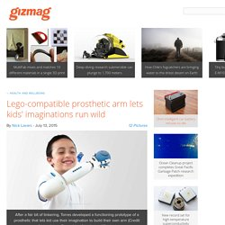 Lego-compatible prosthetic arm lets kids' imaginations run wild
