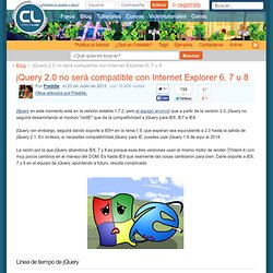jQuery 2.0 no será compatible con Internet Explorer 6, 7 u 8