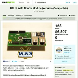 URUK WiFi Router Module (Arduino Compatible) by PNW Networks