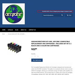 Amsahr Brother DCP-165C, MFC290C Compatible Replacement Ink Cartridges