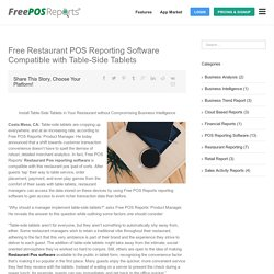 Tableside Tablets Compatible with Restaurant POS Reporting Software
