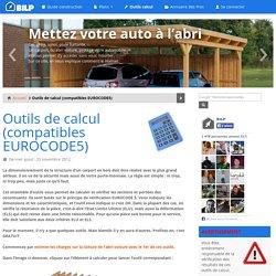 Outils de calcul (compatibles EUROCODE5) - Guide de construction des CARPORT, ABRI VOITURE et PRÉAU
