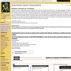 compcolts - SYNTHESIS ESSAY RESOURCES