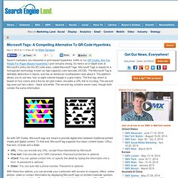 Microsoft Tags: A Compelling Alternative To QR Code Hyperlinks