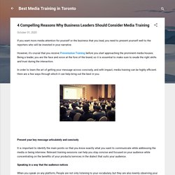 4 Compelling Reasons Why Business Leaders Should Consider Media Training