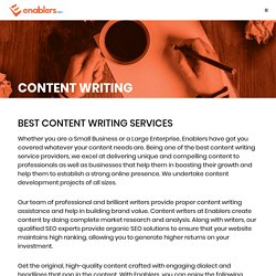 Enablers Content Writing Services