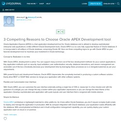 3 Compelling Reasons to Choose Oracle APEX Development tool: abacasys1