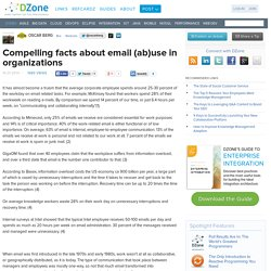 Compelling facts about email (ab)use in organizations