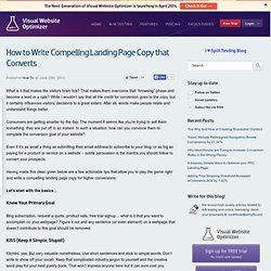 How to Write Compelling Landing Page Copy that Converts