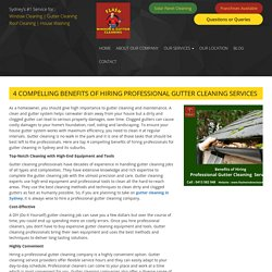 4 Compelling Benefits of Hiring Professional Gutter Cleaning Services