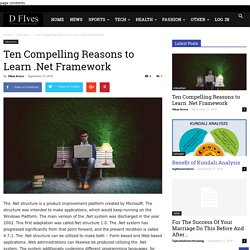 Ten Compelling Reasons to Learn .Net Framework - D Five