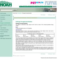 NOAH Compendium of Animal Medicines: Itrafungol 10 mg/ml Oral Solution - Dosage and administration