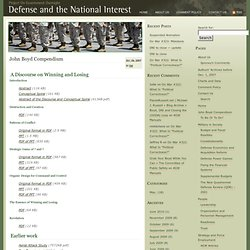John Boyd Compendium | Defense and the National Interest