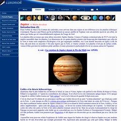 Compendium du système solaire - Jupiter