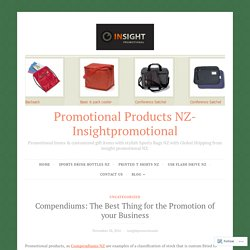 Compendiums: The Best Thing for the Promotion of your Business – Promotional Products NZ- Insightpromotional