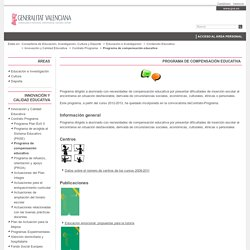 Programa de compensación educativa - Generalitat Valenciana