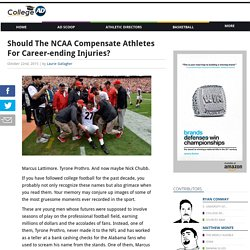 Should The NCAA Compensate Athletes For Career-ending Injuries?