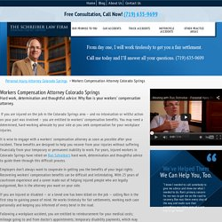 Workers Compensation Attorney Colorado Springs CO