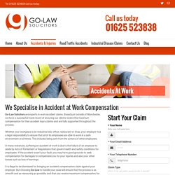 Work Accident Compensation Claim Manchester