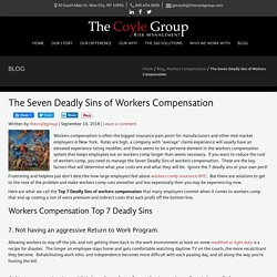 The Seven Deadly Sins of Workers Compensation