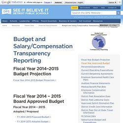 Budget and Salary/Compensation Transparency Reporting - Detroit Public Schools