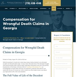 Compensation for Wrongful Death Claims in Georgia - Brockman Law Firm