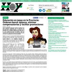 Educación en jaque en la Provincia: Ordenan borrar aplazos, eliminar compensatorios y facilitar promociones