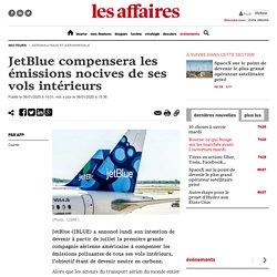 JetBlue compensera les émissions nocives de ses vols intérieurs