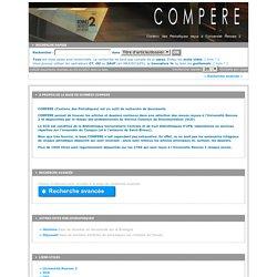 COMPERE - Contenu des Périodiques reçus à l'Université Rennes 2