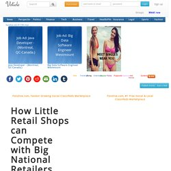 How Little Retail Shops can Compete with Big National Retailers