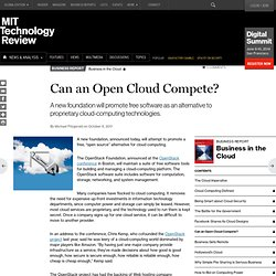 Can an Open Cloud Compete?