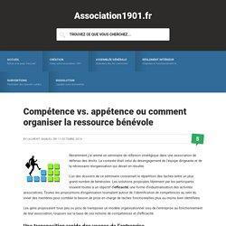 Compétence vs. appétence ou comment organiser la ressource bénévole