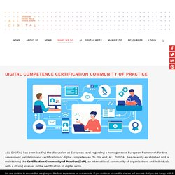 Digital Competence Certification Community of Practice