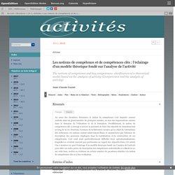 Les notions de compétence et de compétences clés: l'éclairage d'un modèle théorique fondé sur l'analyse de l'activité