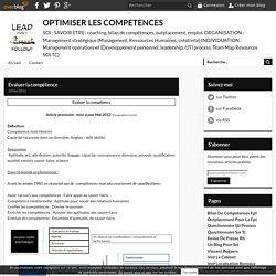 Evaluer la compétence - OPTIMISER LES COMPETENCES